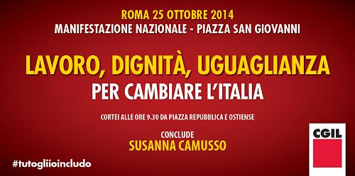 Manifestazione nazionale roma 25 ottobre