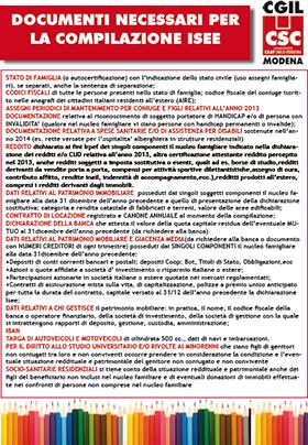 Documenti ISEE 2015