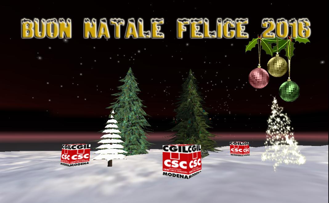 Conosciuto Auguri di Buon Natale e Felice 2016 | | C.S.C - CAF CGIL Modena ZI18