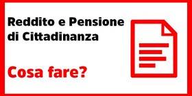 Reddito e pensione di cittadinanza