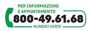 NUMERO VERDE 800 496168 dichiarazione dei redditi            Dal lunedì al sabato  (9-13   14-19)  Non attivo giovedì e sabato pomeriggio