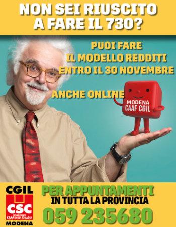 Entro il 30 Novembre puoi fare il Modello Redditi, con appuntamento tel. 059 52680 oppure online